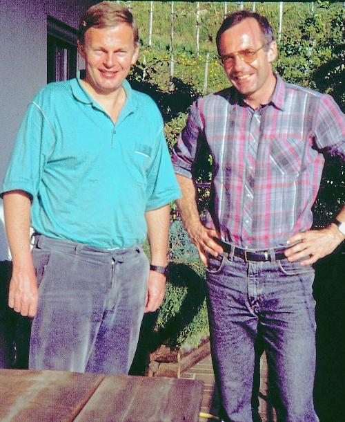 Padre Claus links Padre Dietmar rechts