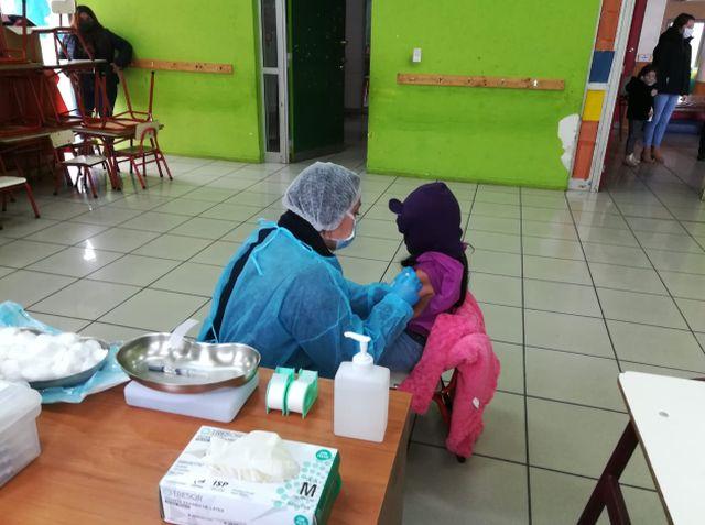 Vacunación contra el sarampión