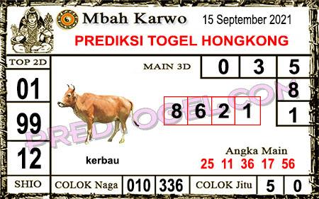 Prediksi Mbah Karwo Hk Rabu 15 September 2021