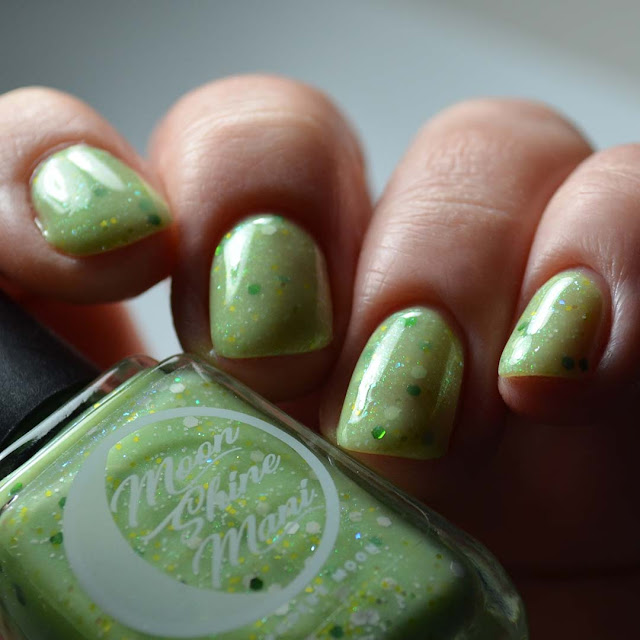 key lime nail polish low light swatch