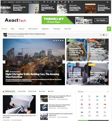 Axact Adsense Responsive Blogger Templates Without Footer Credit