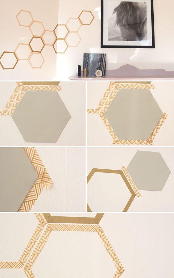pellmell cr ations une t te de lit en masking tape. Black Bedroom Furniture Sets. Home Design Ideas