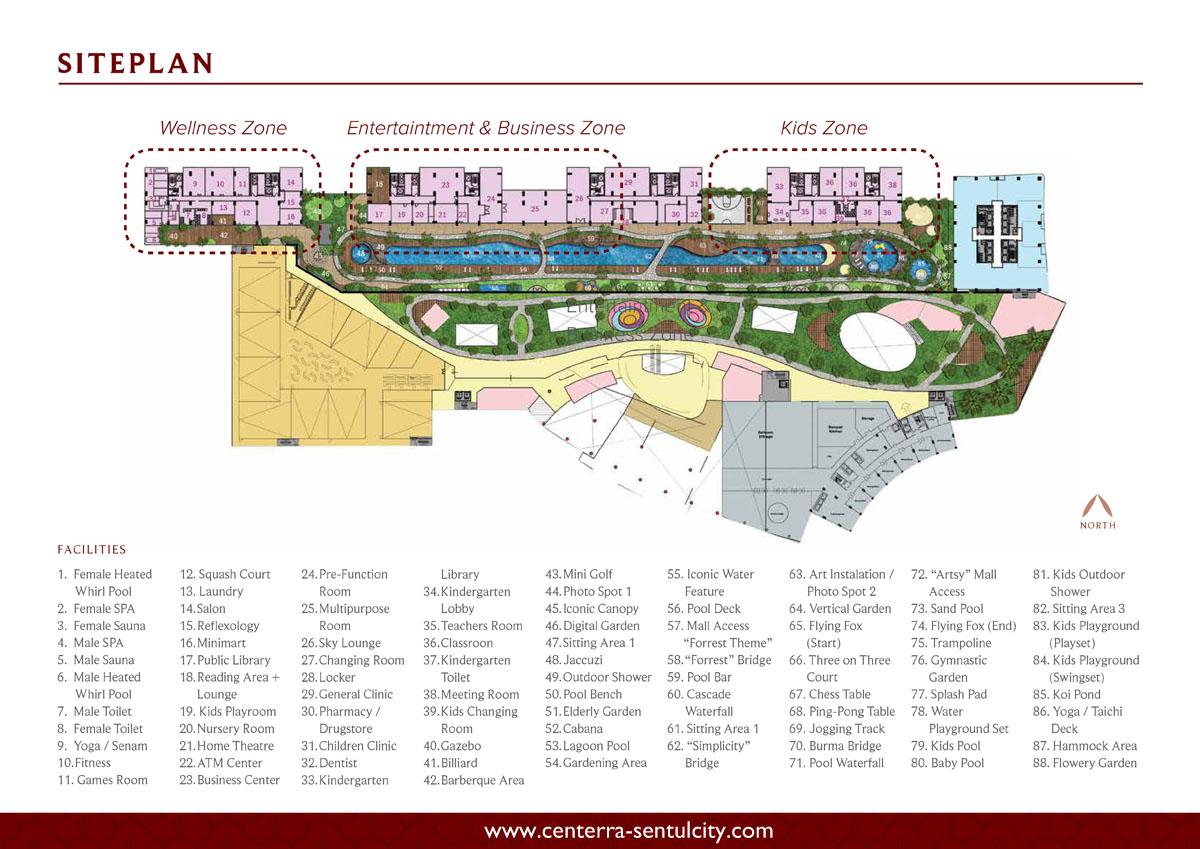 Saffron Sentul City Apartemen Siteplan Facilities