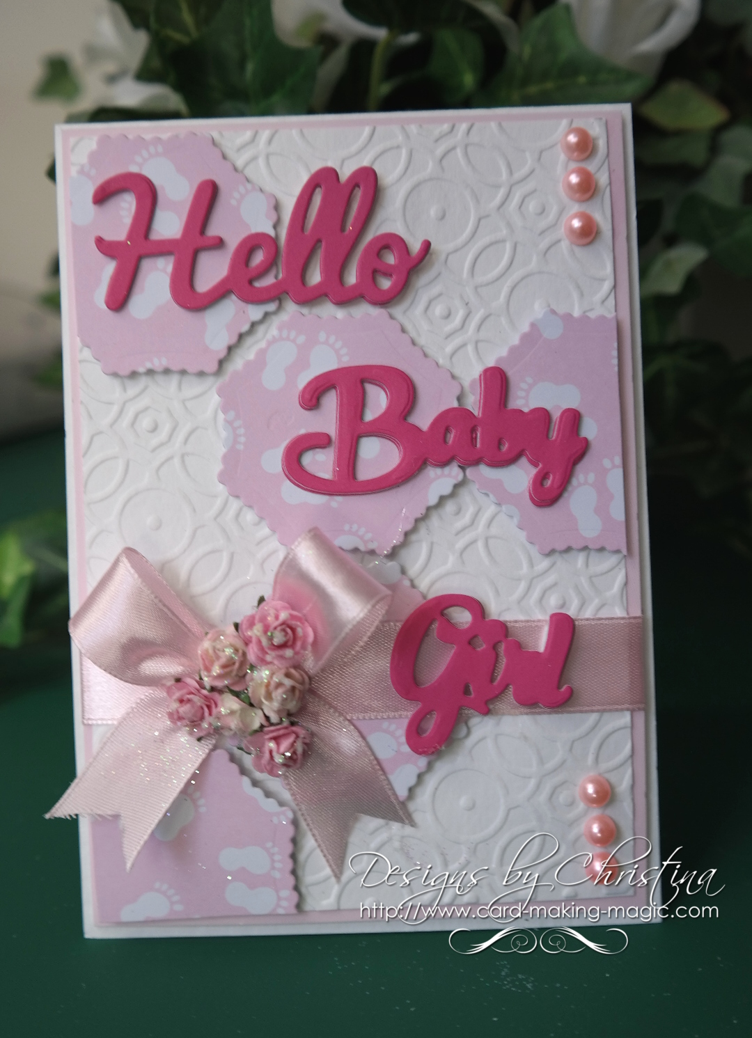 Flowers Ribbons And Pearls Tuesday Tutorial Hello Baby Girl