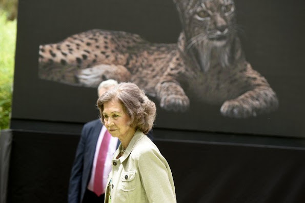 Queen Sofia of Spain attends the opening of the new facilities for iberian lynx at Zoo Aquarium