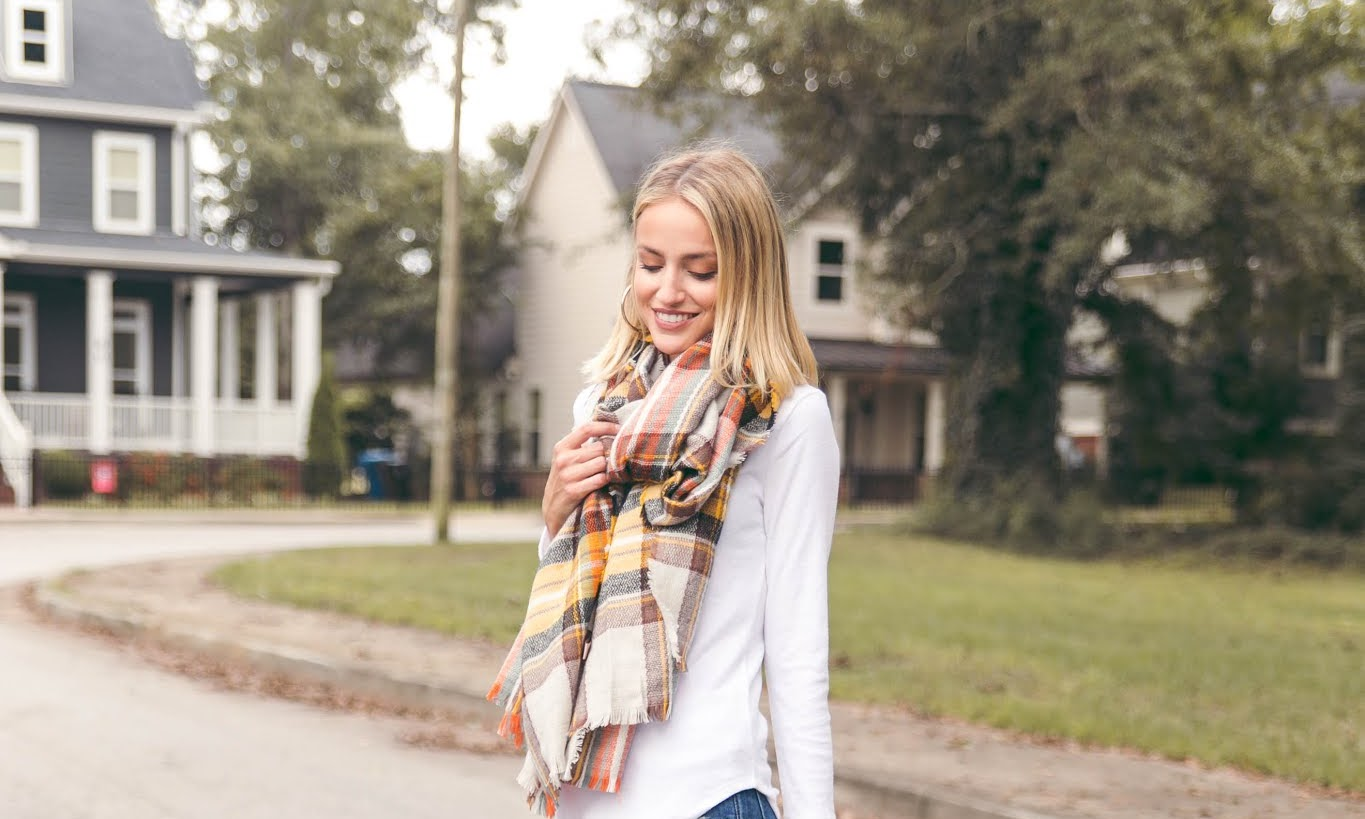 Nothing a Plaid Scarf Wont Fix In The Fall
