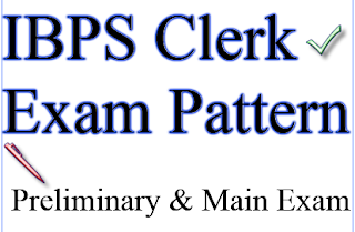 IBPS Clerk Exam Pattern /Syllabus for Preliminary & main Exam 2016