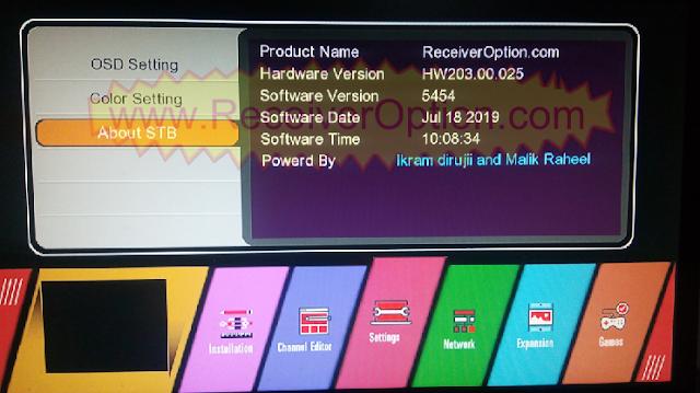 GX6605S HW203.00.025 TEN SPORTS & CCCAM OK NEW SOFTWARE WITH BEAUTIFUL MENU