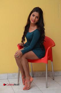 Telugu Actress Prasanthi Stills in Green Short Dress at Swachh Hyderabad Cricket Press Meet  0093.JPG