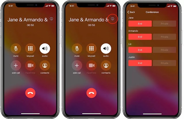 How to Talk Privately and Disconnect Individual Participants During an iPhone Conference Call