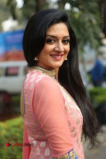 Actress Vimala Raman Stills in Beautiful Pink Salwar Kameez at (ONV) Om Namo Venkatesaya Press Meet  0203.JPG