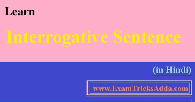 Learn Interrogative Sentence in Hindi with Examples