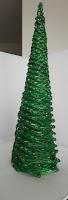 kerstboom van gerold papier