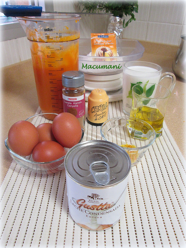 ingredientes de pudding de calabaza