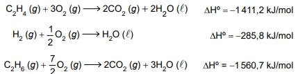 Utilize as equações termoquímicas