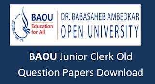 BAOU Junior Clerk Previous Question Papers and Syllabus 2020