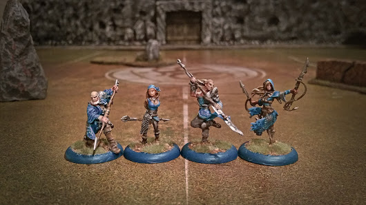Guild Ball - Painted Greyscales, Angel, Shark and Siren