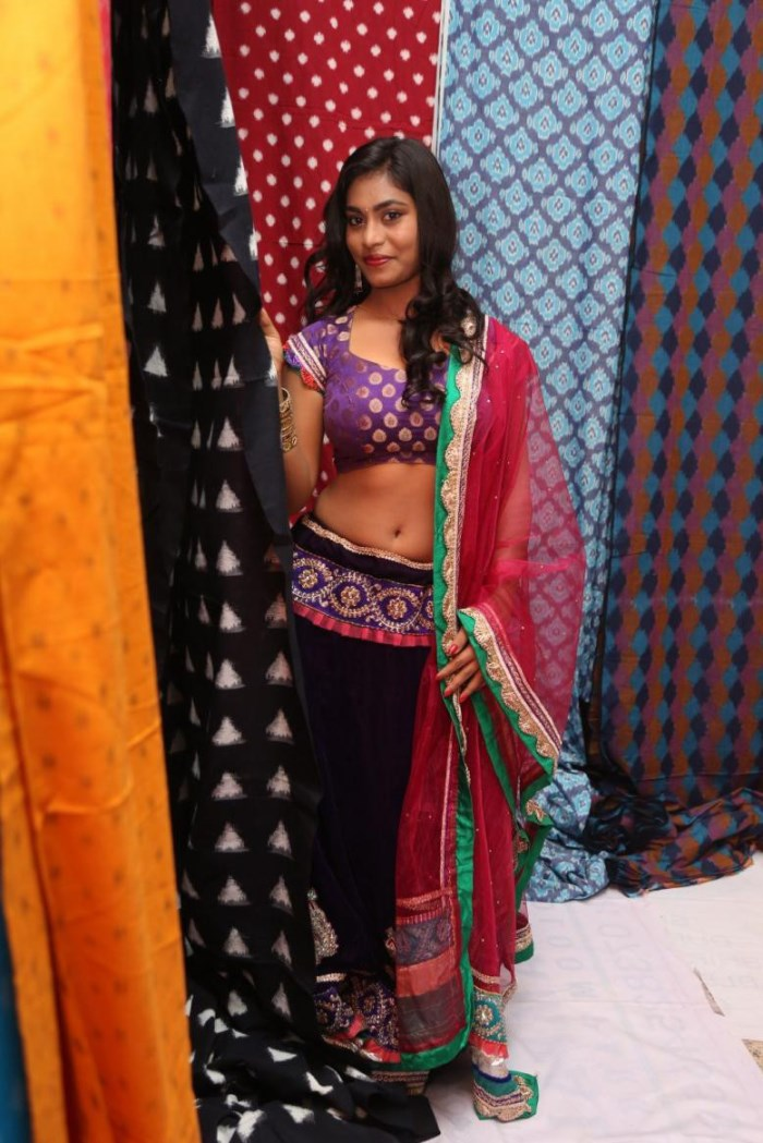 Priya Augustin Looks Stunning in Blue Choli and Ghagra
