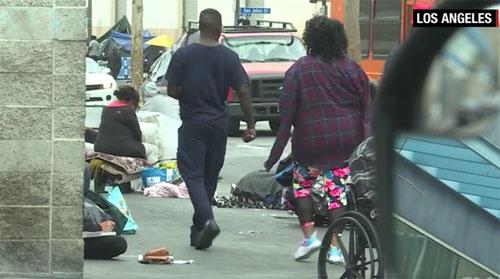 Tunawisma mencapai tingkat darurat di Los Angeles Gambar dari CNNCOM