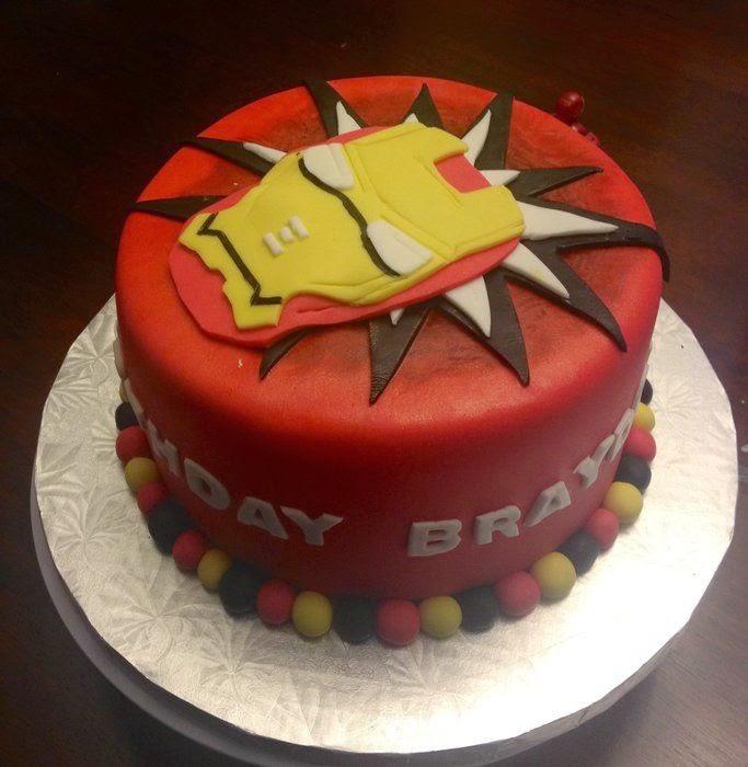 Diseno De Tortas Decoradas De Iron Man Fiestas Infantiles Decoracion - Decoracion-de-tortas-infantiles