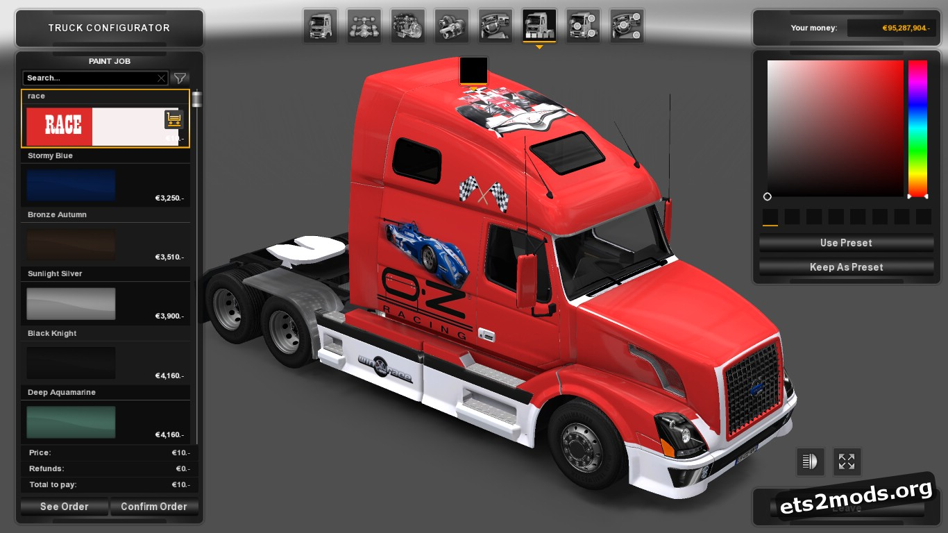 OZ Race Skin for Volvo VNL 670