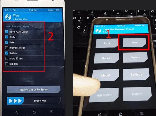 تثبيت Android 10 على هاتف  Samsung J7 2015
