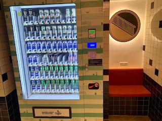 Beer vending machine at lyf Funan