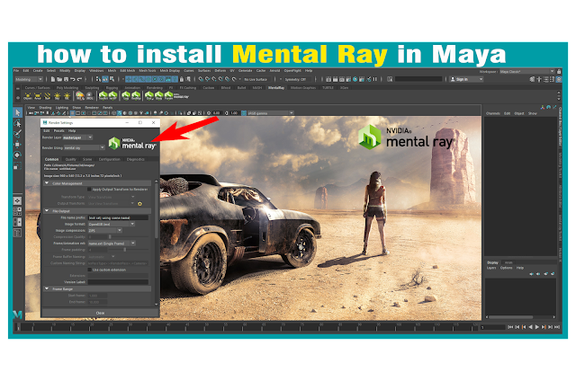 How to install Mental Ray for Autodesk Maya 2017 TO 2020 With Render Scene. 2020