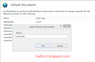 halaman default document pada iis