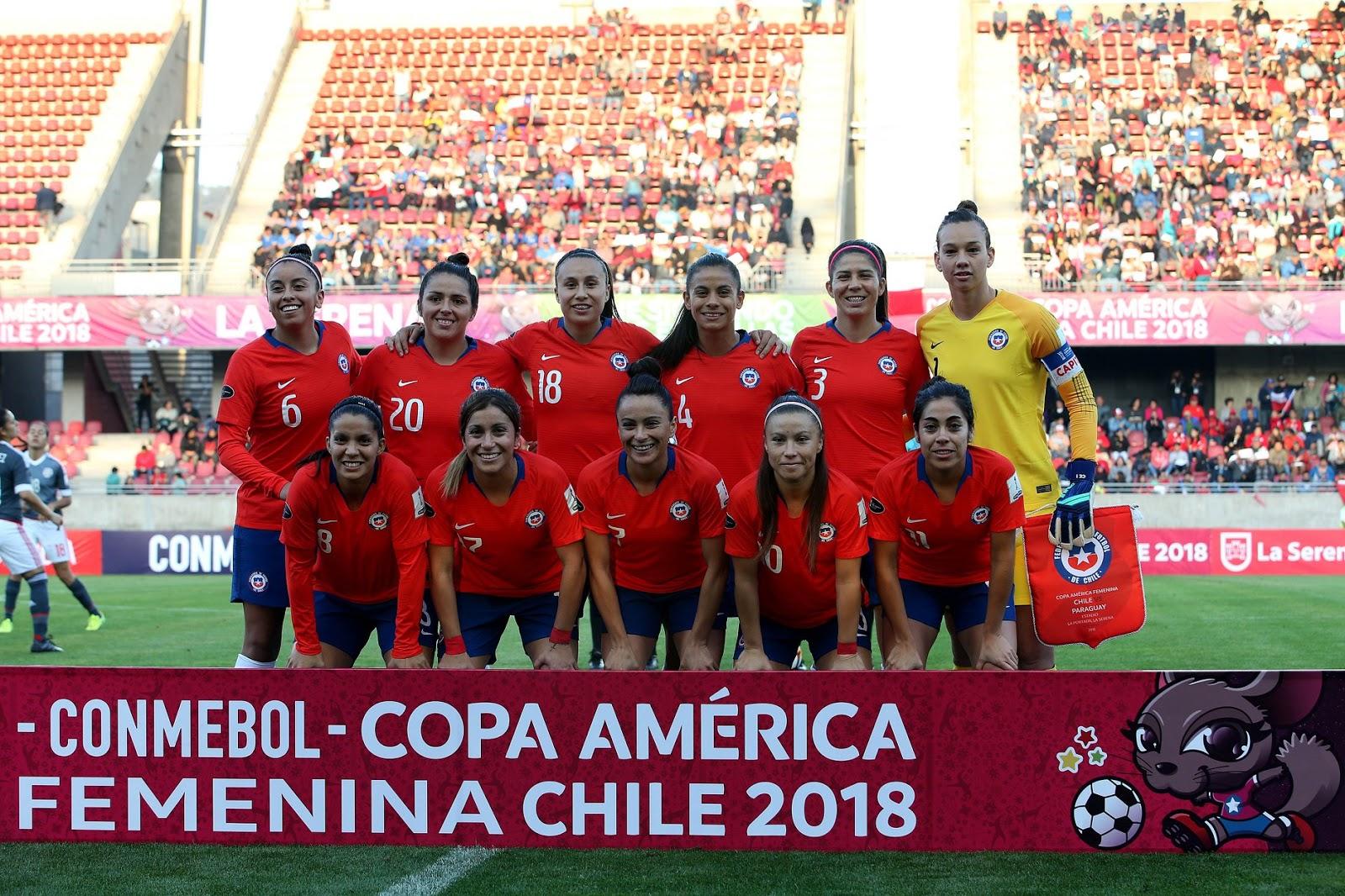 Formación de selección de Chile ante Paraguay, Copa América Femenina 2018, 4 de abril