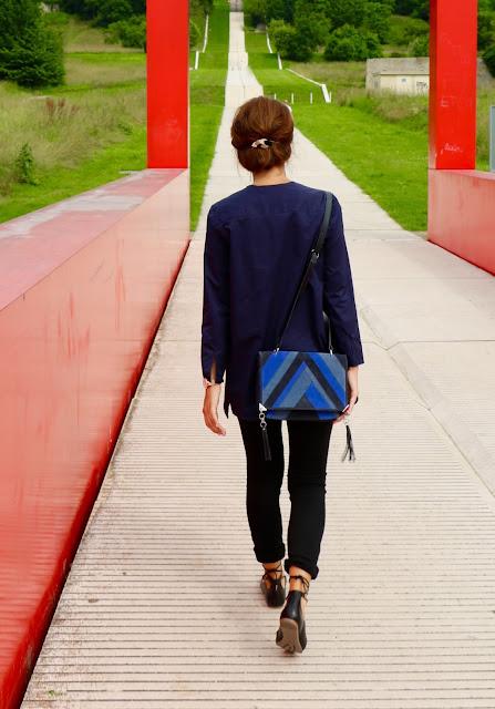 sac bleu mode blog