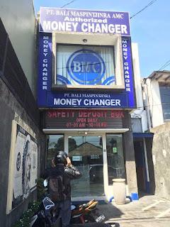 money changer in sanur bali