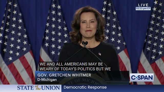 State of the Union 2020 Democratic response Michigan governor Gretchen Whitmer