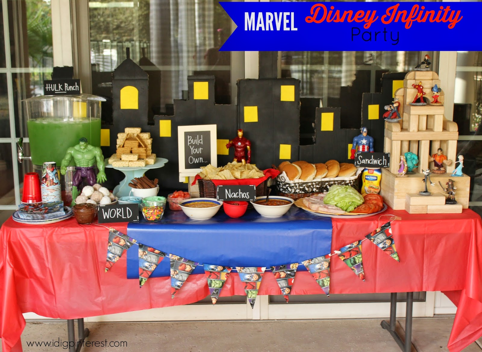 Marvel Disney Infinity Games Party Ideas I Dig Pinterest