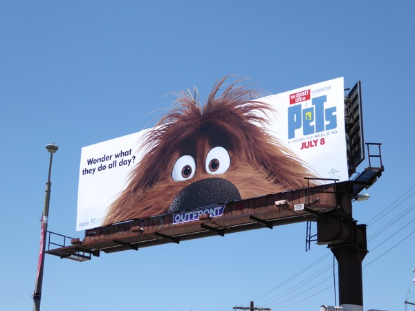 Secret lIfe of Pets movie Duke billboard