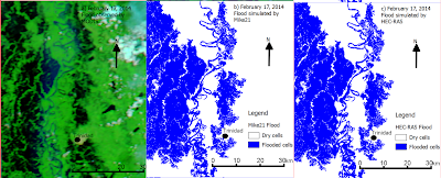 validating 2D flood simulation vs remote sensing flood observation