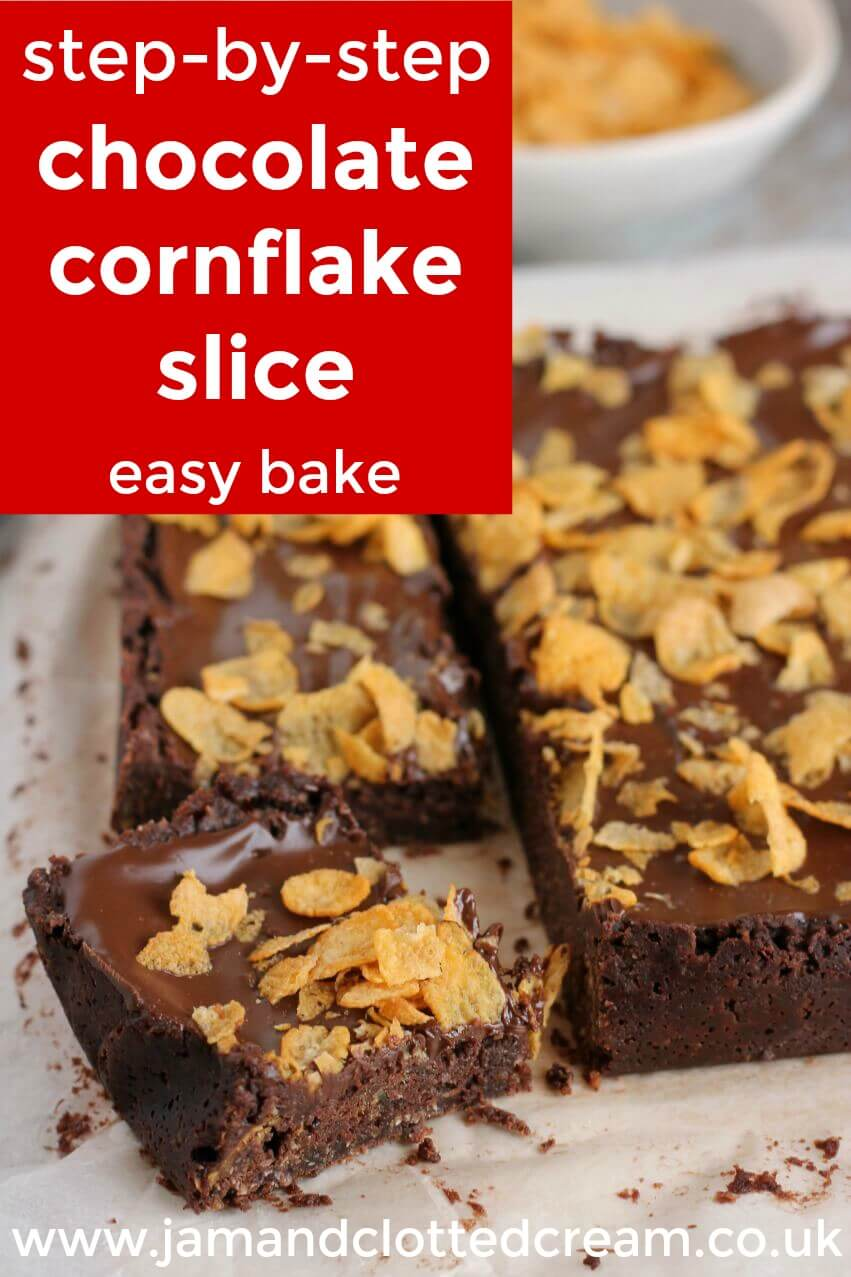 step by step cornflake slice image