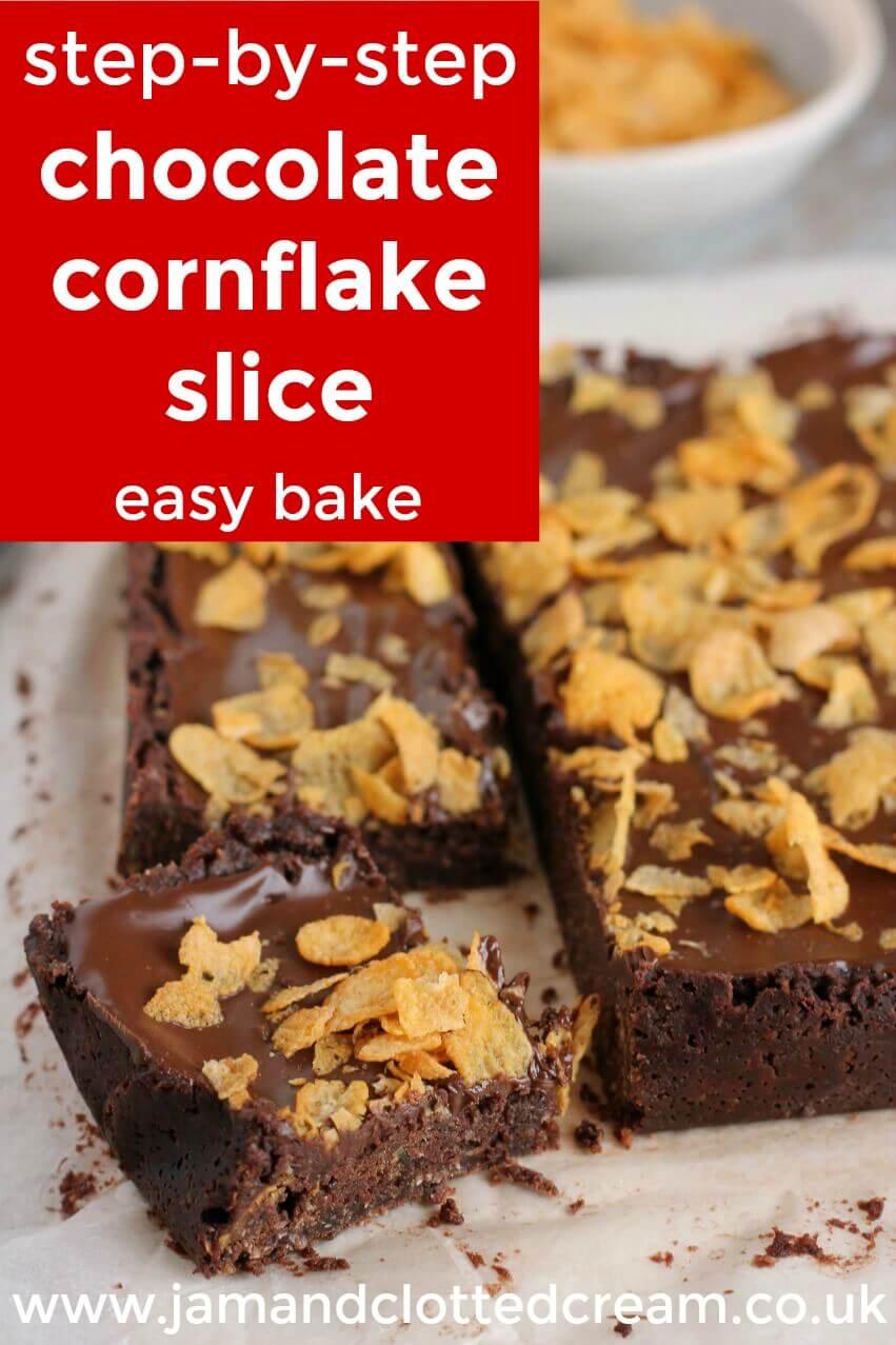 step by step cornflake slice image