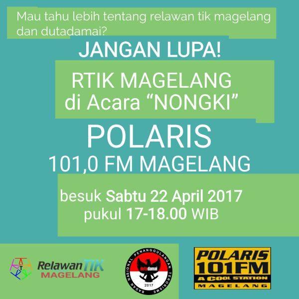 RTIK Magelang dan Duta Damai di Nongki Bersama Polaris FM