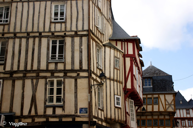 Le case a graticcio del centro medievale di Vannes