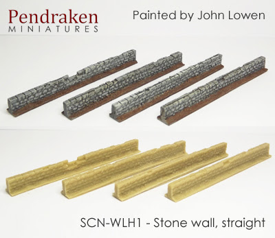 New Stone Walls released by Pendraken Miniatures