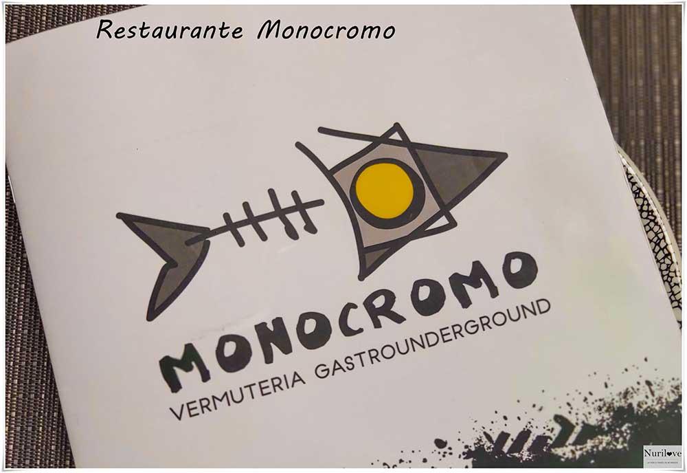Restaurante Monocromo un restaurante moderno y actual en el centro de Bilbao con cocina un poco alternativa