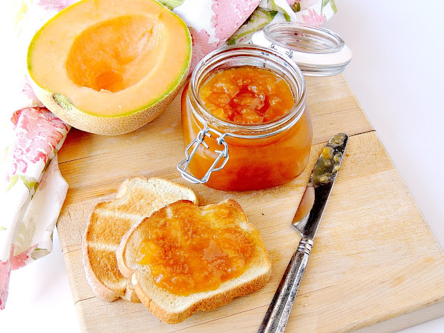 Cantaloupe Jelly - This easy to make jelly allows you to enjoy the flavor of ripe summer cantaloupe all year long from www.bobbiskozykitchen.com