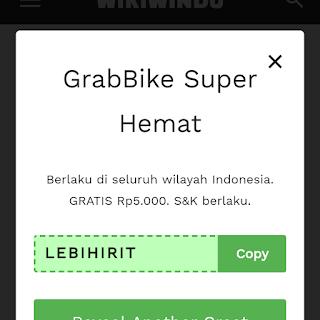 Kode promo grabbike Palembang 2020