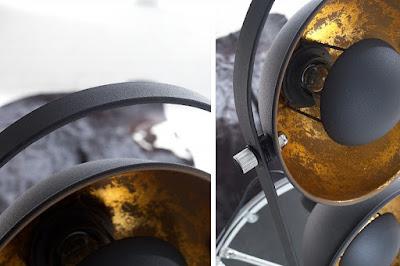 lampy Reaction, kovový nábytok, stolové lampy