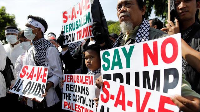 Miles de personas deploran en Indonesia y Paquistán medida de Trump
