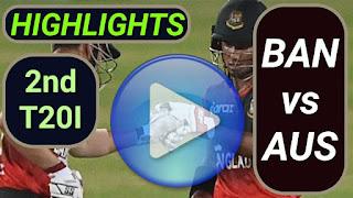 BAN vs AUS 2nd T20I 2021