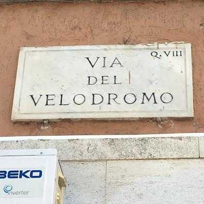Targa stradale Via del Velodromo
