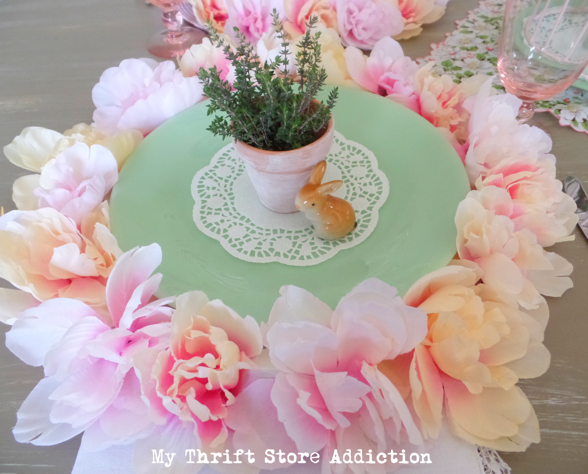 dollar store peony flower placemats