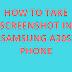 how to take screenshot in samsung a30s phone